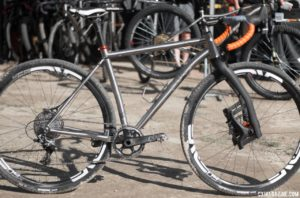 The Why Cycles' R+ titanium road / cross / gravel bike comes with two build options, two fork options, or frame only. © Cyclocross Magazine