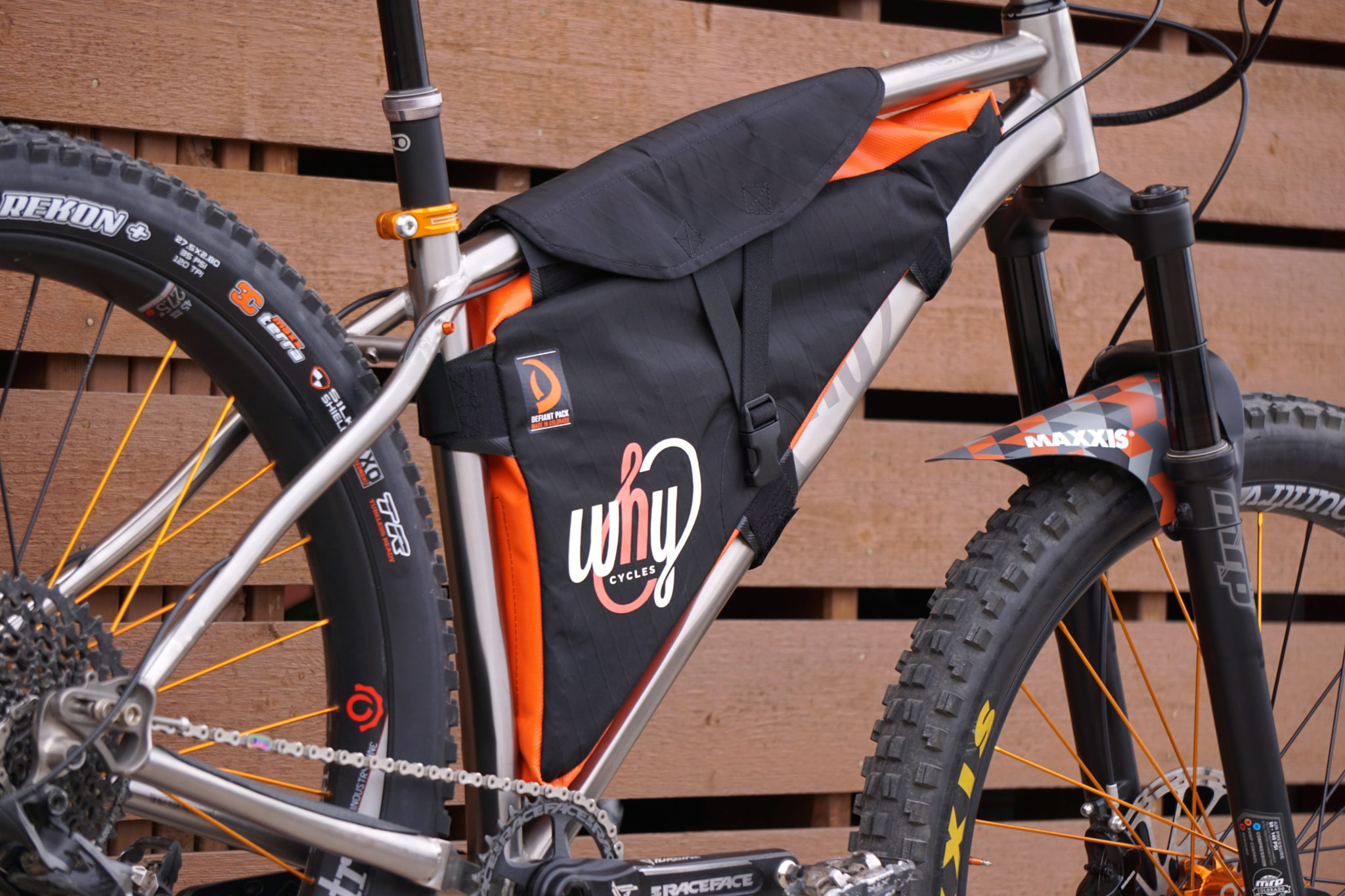 Defiant Pack Why Cycles Custom Frame Bag Why Cycles